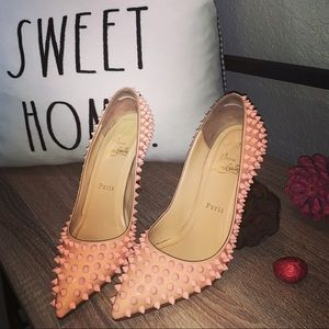 Christian Louboutin Baby Pink Spike Pigalles